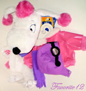 Build A Bear Flying Fifi French Poodle Dog Unstuffed 17in. Animal Snoopy Peanuts