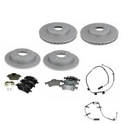For Mini Cooper R50 Front And Rear Rotors Brake Pads And Sensors Kit Zimmermann Ate