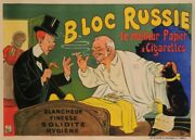 Original Vintage French Poster For Bloc Russie Cigarette Paper By Oge Ca. 1905