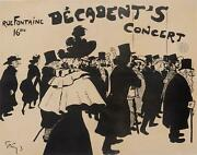 Original Vintage French Poster Decadent's Concert By Grun 1893/1894