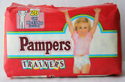 Rare Vintage 90's Pampers Trainers 26x Large Size 15kg 33lbs Girl New Sealed Nos
