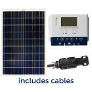 Grape Solar 100-watt Off-grid Solar Panel Kit W/ Charge Controller Cables Manual