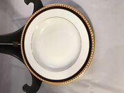 Limoge Black Band Salad Plate Set Of 12, 8.5 Inches Mint