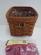 Longaberger 2008 Rb Rich Brown Sort And Store Desk Pal Basket Combo New Retired