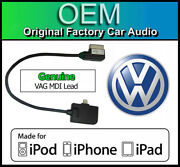 Vw Mdi Ipod Iphone Lead, Vw Polo Lightning Cable Connection, Media In Adapter