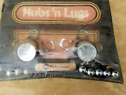 Nos Vintage Hubs And Lugs Center Cap Lug Nut Display Box Great For Your Man Cave