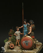 Son And Father Before The Battle Painted Toy Soldier Pre-sale   Museum