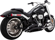 Vance And Hines Black Big Radius Exhaust System For 2018 Harley Fat Boy Breakout