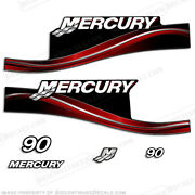 Mercury 90hp Elpto Outboard Engine Decals Reproduction Kit 2005 And Up 2-stroke