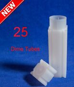 25 Square Coin Safe Tubes Us Dime 18.10mm High Quality Archival Storage Lot Usa