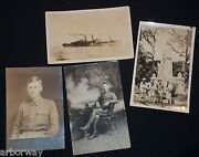 3-vintage 1910's Real Photo Post Cards And 1 Photo Of Wwi Images