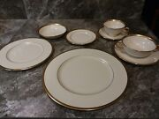 Lenox Tuxedo Gold China8 Place Settings Rimmed With 24k Gold. 64 Total Pieces.