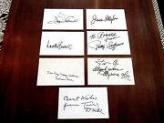 Tiny Doll Lauren Bacall Joan Fontaine Movie Stars Oz Signed Auto Vtg Index Cards