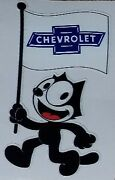 Felix The Cat Chevrolet Die Cut Decal Chevy Impala Lowrider Hot Rod C10 Usa