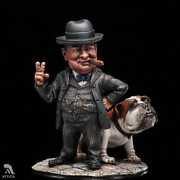 Sir Winston Churchill Painted Toy Soldier Miniature Pre-sale   Art Quality