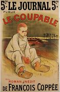 Original Vintage French Poster For Coppeeand039s Le Coupable By Steinlen 1896