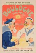 Original Vintage French Poster Boulogne-sur-mer By Grun 1906