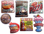 Sign Room Vintage Decor Wall Sticker Built In Led Lights Diner Collectible Signs