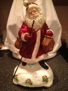 Vintage 1992 Schmid Musical Collectibles Jolly Old St Nicholas Music Box Perfect
