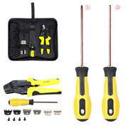 Set Of 4 In 1 Wire Crimper Tools With Screwdriver +end Terminals Tool Box Kits