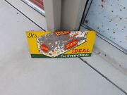 Vintage Ideal Bread Loaf Embossed Metal Sign Nice Soda Cola Country Store
