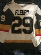 Marc-andre Fleury Las Vegas Golden Knights Signed Autograph Jersey Becket Nhl