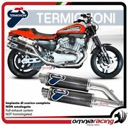 Termignoni Round Complete Exhaust Carbon Racing Harley Davidson Xr1200r