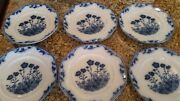 Antique Stafford Jandg Meakin England Blue White Octogon Plate Flowers