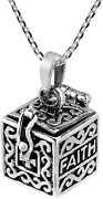 Inspirational And Ldquofaith And Hope And Rdquo Prayer Box .925 Sterling