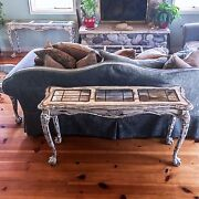 Matching, Large, Antique, Entryway Tables, White, Shabby Chic, Sofa Table, Set