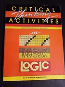 Critical Thinking Activities For Grades K-3 Paperback By Seymour Dale