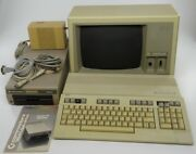 Commodore 128 + Power Supply Psu And 1541 Floppy Disk Drive And Apple Iii Monitor