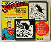 Superman Slide Puzzle Mint On Card National Periodicals / Dc 1960and039s Rare