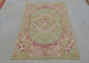 3'x5' Antique Aubusson French Countryside Area Rug Light Brown Hand-woven Oliver