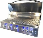Rcs Gas Grills 40 Premier Grill With Blue Led And Rear Burner - Ng