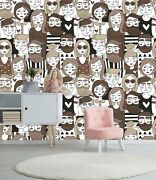 3d Brown Face 735 Wall Paper Print Wall Decal Deco Indoor Wall Murals Us Summer
