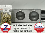 3188 New Do It Cannon Ball Sinker Mold W/2 Brass Wire Eyes - 12 And 16 Oz Sizes