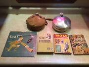 Vintage Boy Scout Record Morse Code 1951 3 Manuals Book 1974 And 2 Canteens Lot