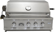 Sole 30 Inch Luxury Natural Gas Grill With Lights And Rotisserie