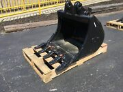 New 24 Excavator Bucket For A Takeuchi Tb125 With Coupler Pins