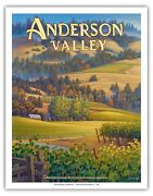 Anderson Valley Wineries - Kerne Erickson - California Wine Country Art Print