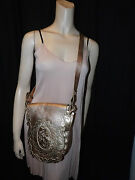 Anna Suigold Leathermessenger Bagmade In Italyrunway Collection