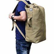 Military Tactical Large Bag Outdoor Canvas Duffle Multifunctional Sport Backpack