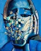 Charles Blackman And039blue Vaseand039 Archival Pigment Print - Collectable Fine Art + Coa