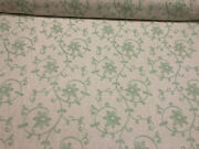 25 Yard Roll Everett Spa Blue Floral Embroidered Fabric