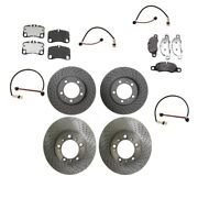 For Porsche 911 Carrera 09-12 Front And Rear Brake Pads W/ Rotors And Sensors Kit