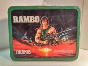 Thermos Brand - Rambo - Metal Lunch Box 1985 - No Thermos