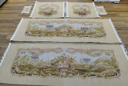 Floral Vintage Genuine Aubusson Silk Wool Sofa Chair Cover Hand Woven Luxury