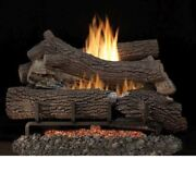 30 Giant Timber Outdoor Logs W/stainless Steel Ei Ignition Burner Lp
