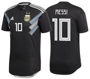 Adidas Lionel Messi Argentina Authentic Match Away Jersey World Cup 2018.